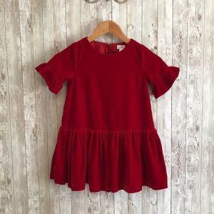 Gymboree girls red velvet dress